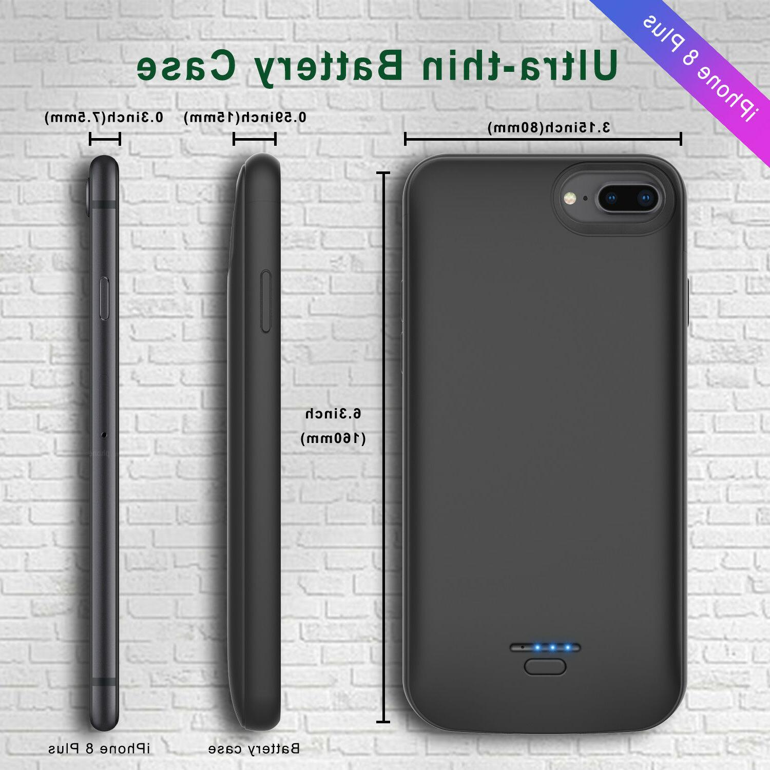 Battery Charger Bank Charging Phone Cover For iPhone 7/8/6/6s US