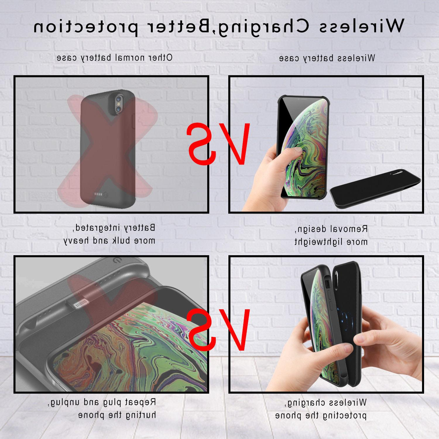 / Qi Wireless Battery Case Bank+QC3.0 Fast