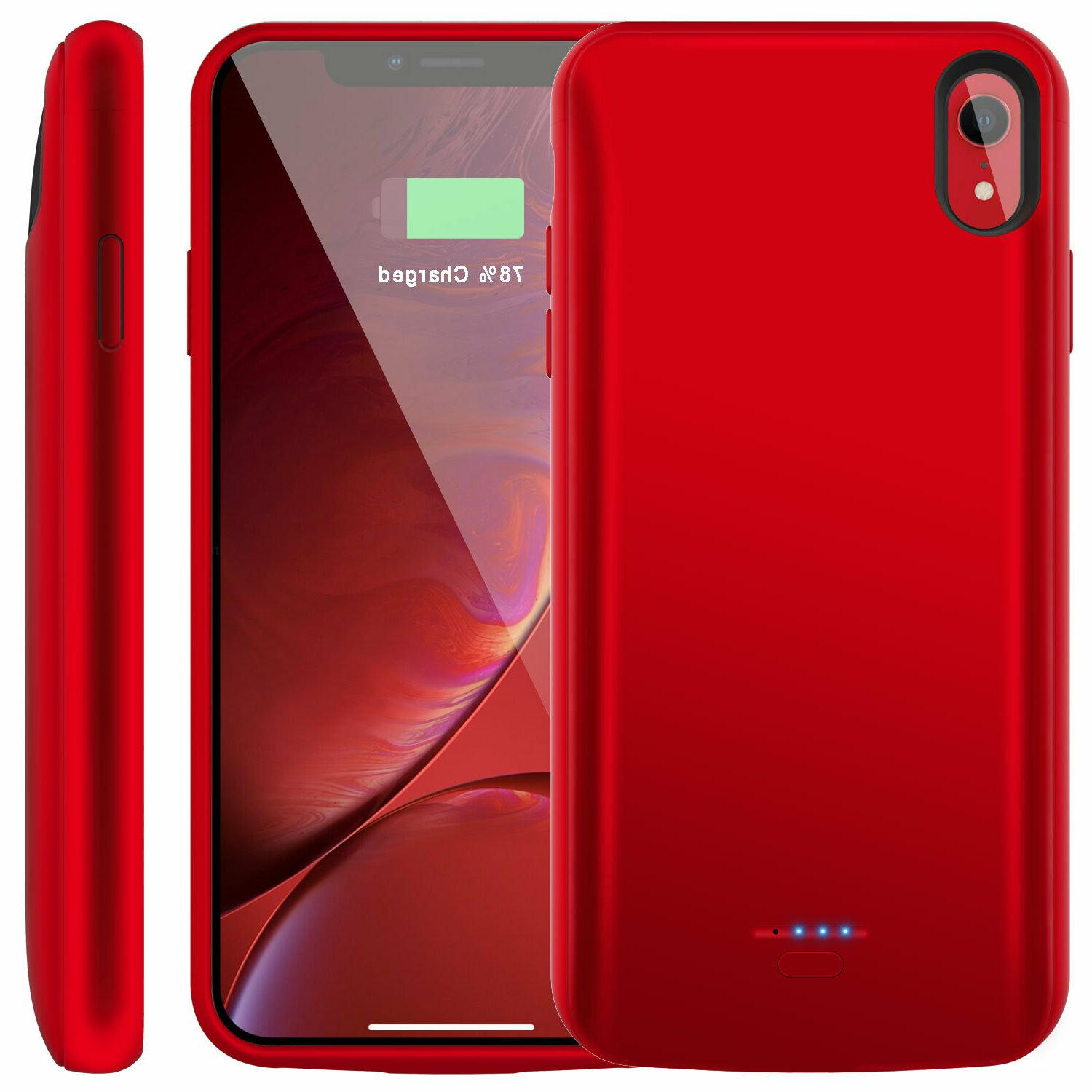 For iPhone Max XR 6 6s 7 8 Plus Charging Battery Case Bank Charger