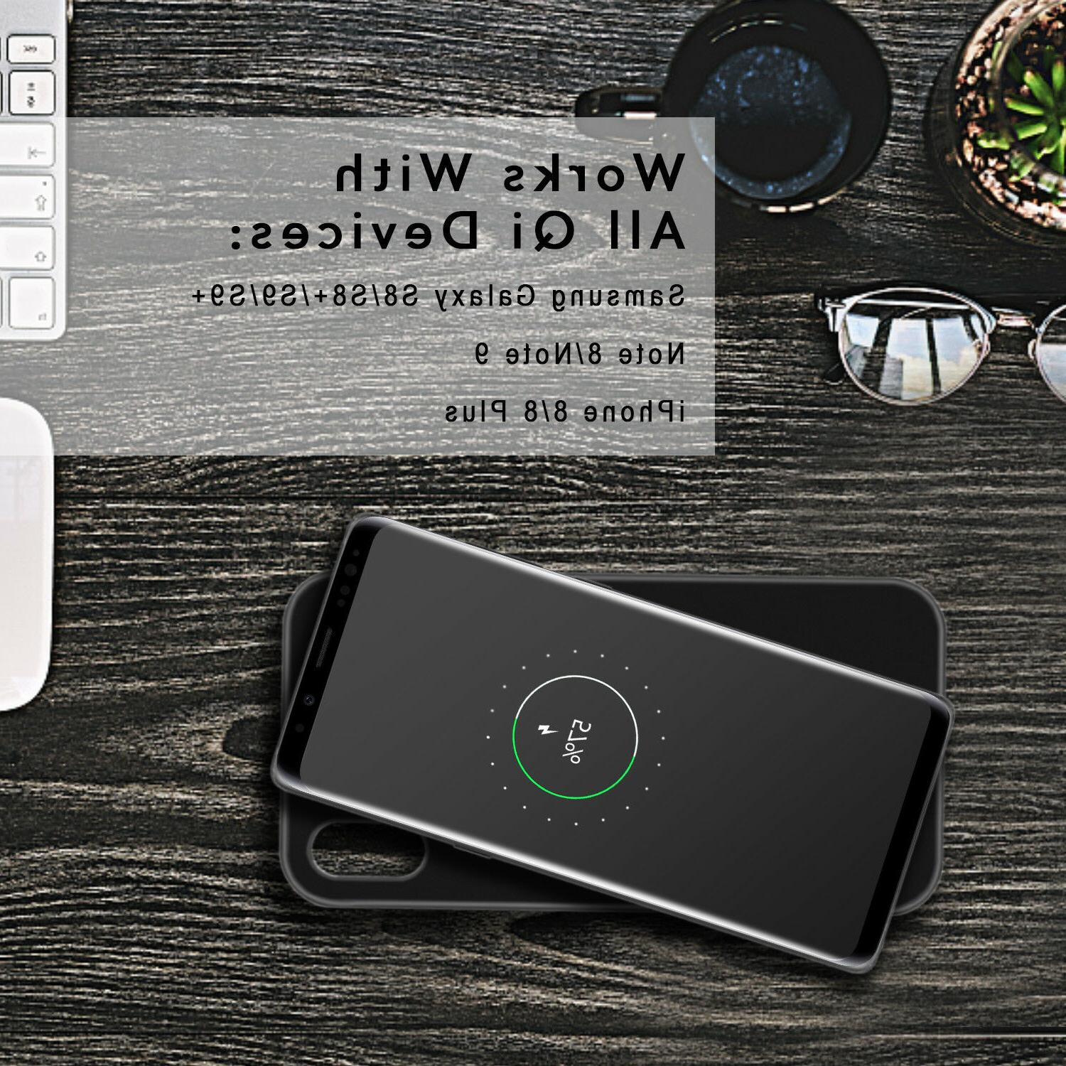 For iPhone Max/XS/X Qi Wireless Case Power Bank With Holder