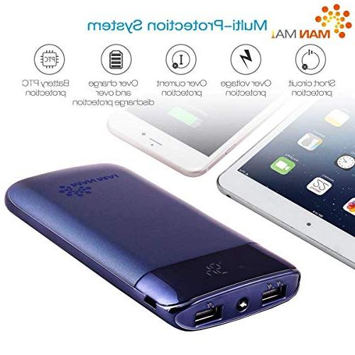 External Portable Charger Pack Charger LED Flashlight iPhone 8/7,iPhone X,iPad Pro, S8 and More
