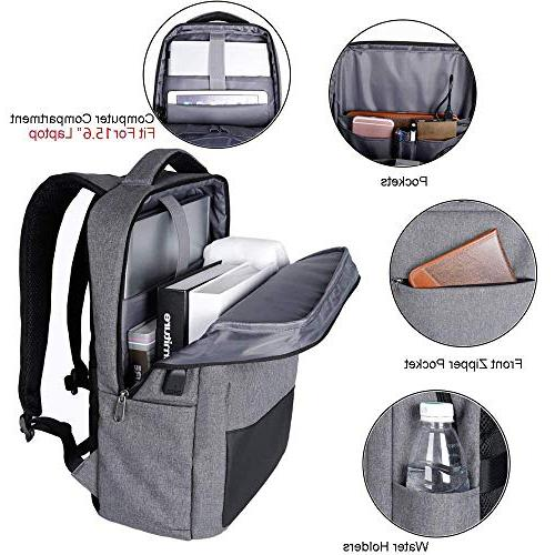 Laptop Backpack, Bag with Port, Sunglass Water Under in Durable Laptop Bag Business, College