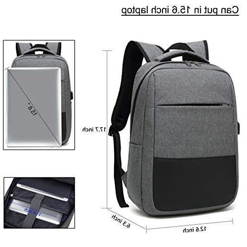 Laptop Travel Computer Bag USB Port, Sunglass Bandage Water in Laptop Durable Bag for Business,