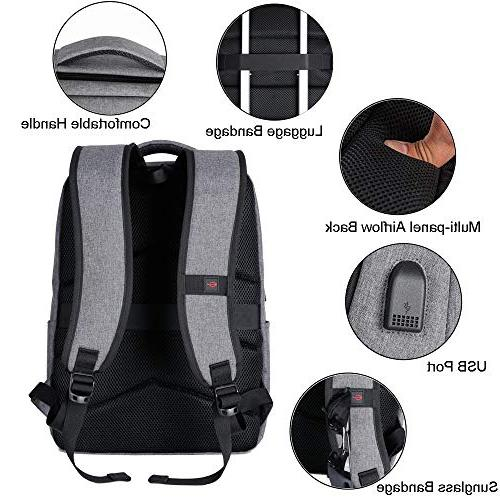 Laptop Backpack, Travel Computer Bag USB Port, Sunglass Bandage Water in Laptop Slim Durable Laptop Business, College
