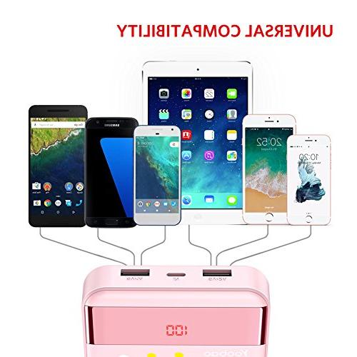 Yoobao 10000mAh Power Bank Small Powerbank Cell Battery Cellphone Tablet Pink