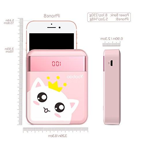 Yoobao Bank Powerbank Cell Battery Pink Cat