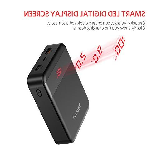 Yoobao M4Q 10000mAh Quick Charge Bank Charger Support Charge Samsung iPhone More-Black