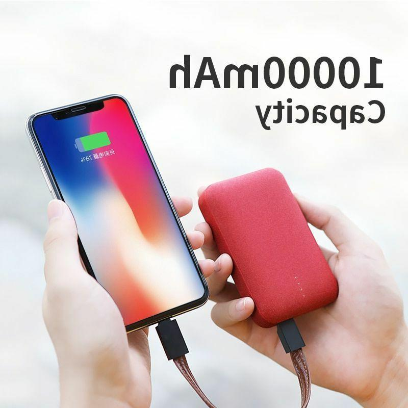 Mini Power Bank 10000mAh External Battery Dual USB LED Porta