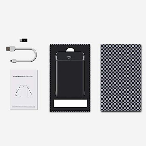 Mobile Slim Charge Phone External Battery LCD Display in Cables for iPad, Samsung Galaxy More
