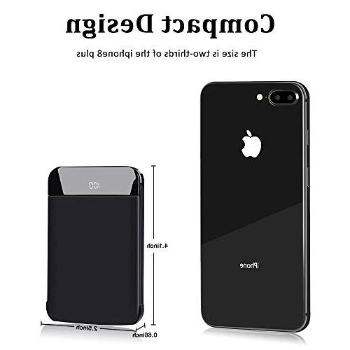 Mobile Powerbank 9000mAh Ultra Slim Charge Phone External Charger LCD Display Cables for iPad, Galaxy More
