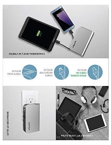 myCharge Port Charge 3.0, Integrated Micro-USB & Foldable Wall