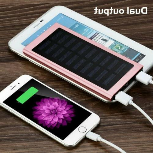 New Battery Charger Solar Digital Power Bank LED USB For Phone