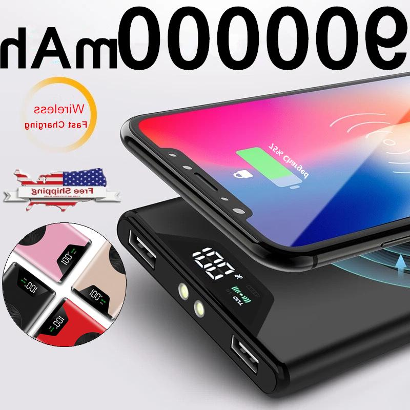 new 900000mah qi wireless power bank 2