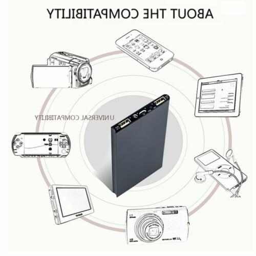 New Portable 900000mAh Charger Power Bank LED Dual USB For Mobile Phone