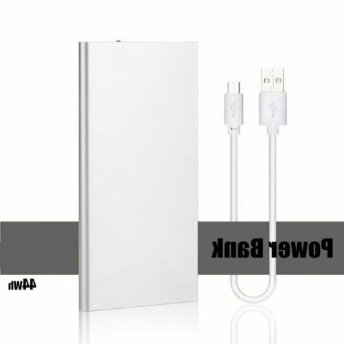 Portable 900000mAh Battery Charger Power Bank LED Dual USB F