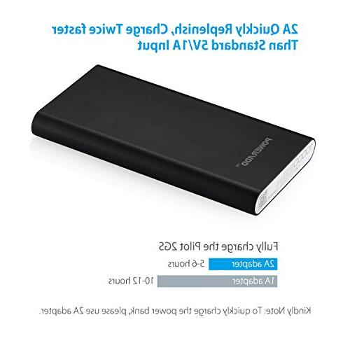 Poweradd 2GS Dual Portable External Battery Charge With Technology 6 Plus 5C Samsung Galaxy S4 S3 4 3 HTC M9, Nokia, - Golden