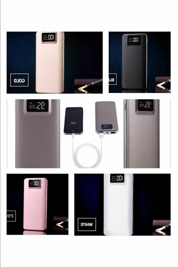 Portable LCD Bank 2 Battery Charger Phone