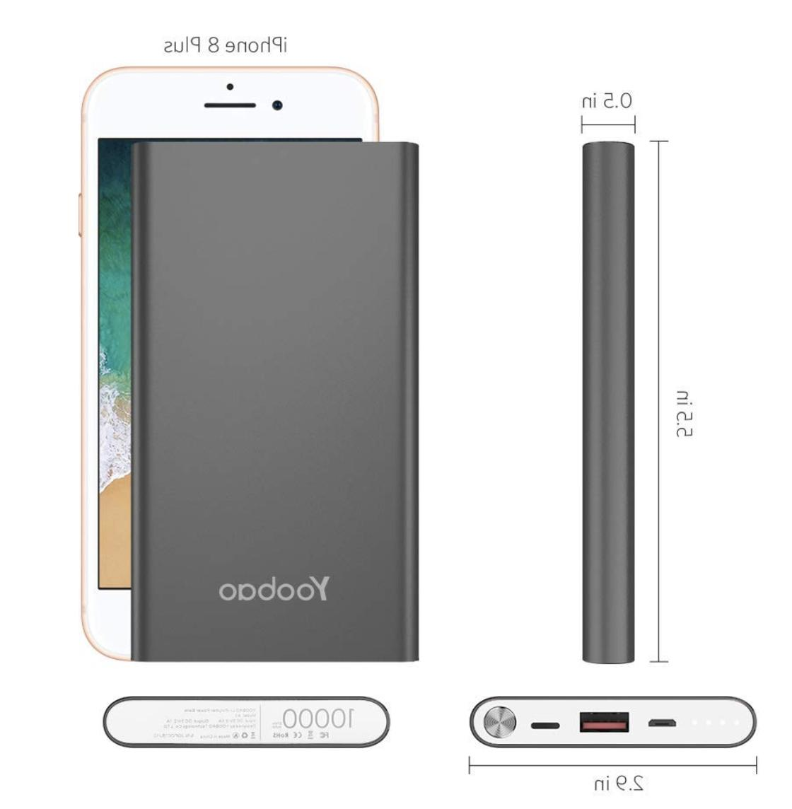 Yoobao Portable 10000mAh Slim Bank External