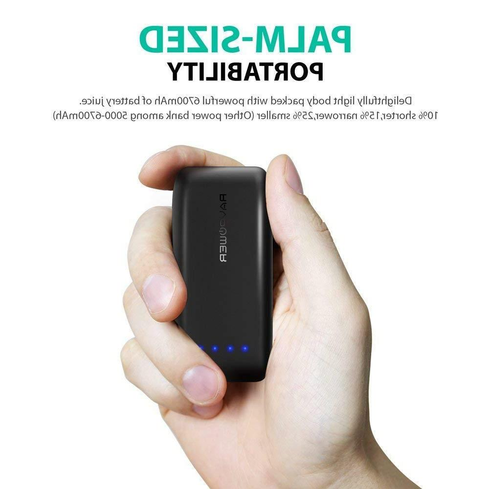 Portable Charger 6700 Battery Pack Bank 2.4A Inp