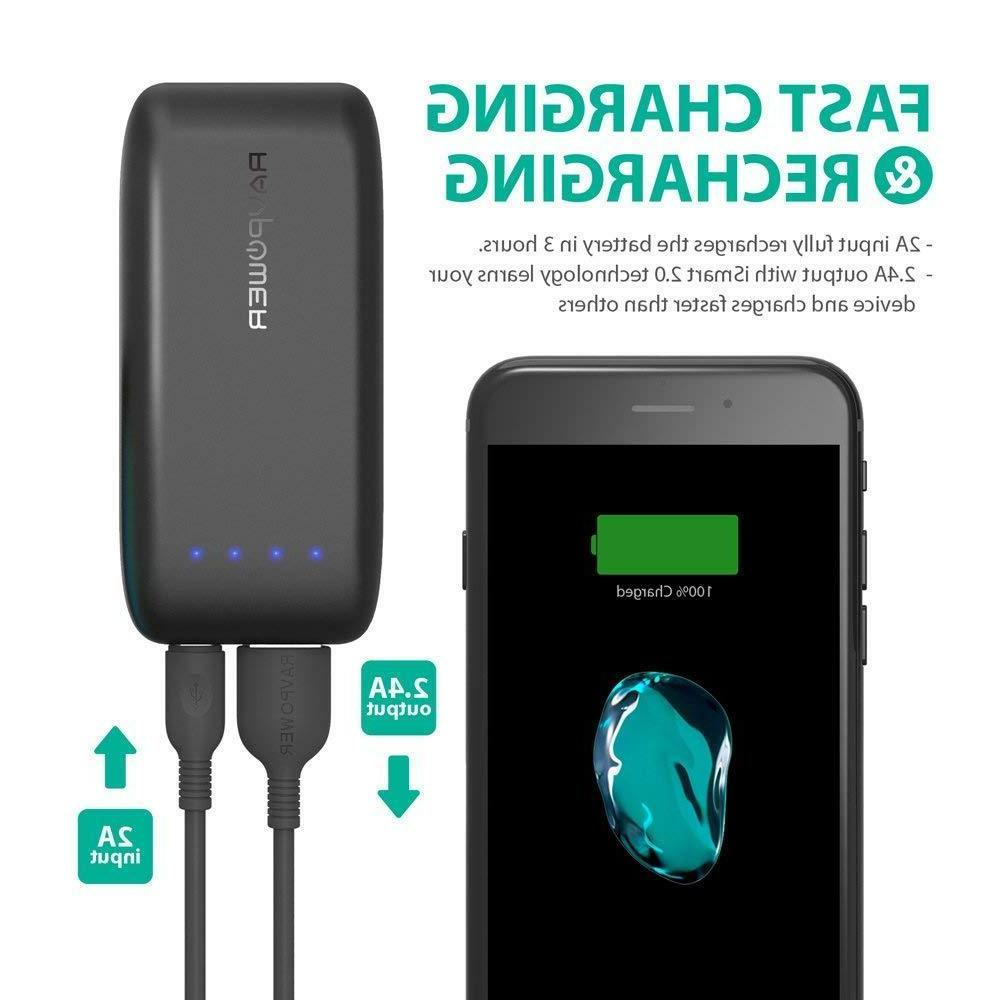 Portable Battery Pack Bank 2.4A Inp