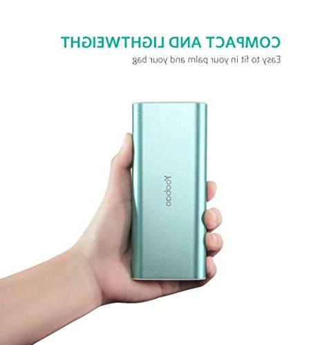 Portable Charger Yoobao Dual USB Power Cell Charger Backup Compatible iPhone X 8 Android Smartphone and Green