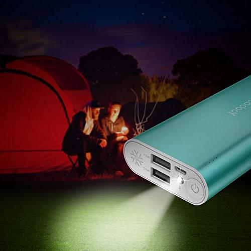 Portable Charger Dual External Pack Cell Phone Backup X 8 Android Smartphone More Green