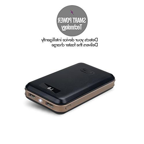 Compact Bank External Battery Digital Charge iPhone 10 7 6S Plus, Samsung S7, Note8, Tablets More
