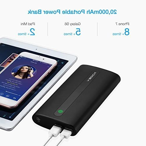 Aibocn External Battery Power Bank with Phone iPad Smartphones and Black