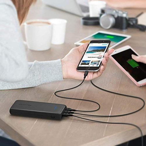 Portable External Battery Pack Power 5.8A Output 3-Port for