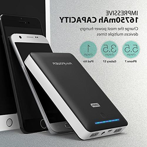 Battery Portable Power + Wall for iPad, Galaxy S8, Note and More
