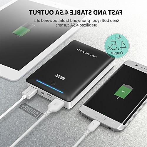 Battery Pack Portable Charger Pack Power Bank Wall Charger Power S8, 8 More Black
