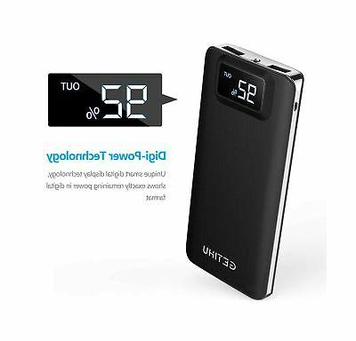 GETIHU Portable Display 10000mAh Power Bank, 4.8A Hi...