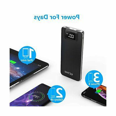 GETIHU Display 10000mAh 4.8A USB Hi...