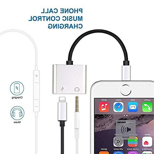 SIVMIG Headphone Adapter, 2 in Splitter Audio and Charger Headphone Music - Gold