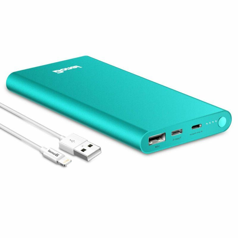 Portable Charger, Bonai Power Bank 12000Mah Aluminum Usb C H