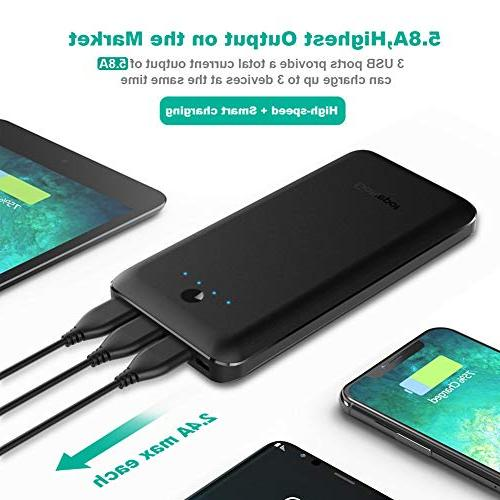Portable Charger Power Bank Charger Samsung Galaxy and More- Black