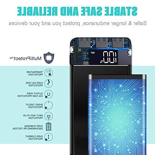 Portable Power Bank 25000mAh - with LCD Digital Input External Compatible Phone,Tablet and