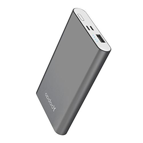 Yoobao Portable Charger Bank & Micro Input 8000mAh Slim External Pack Compatible iPhone 8 7 Plus Android Smartphone Samsung Galaxy etc-