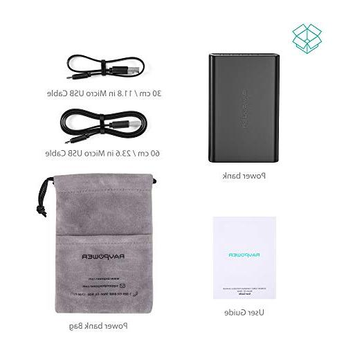 Portable RAVPower Power Pack 3.4A High Speed Charging, iSmart 2.0 USB Portable Battery Charger iPhone, iPad and