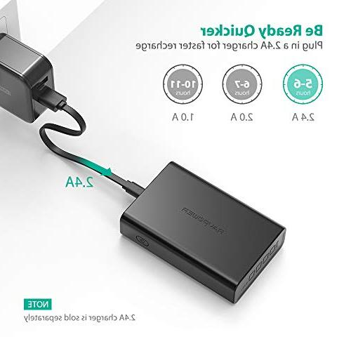 Portable RAVPower Power Ultra-Compact Battery Pack 3.4A High Charging, iSmart 2.0 iPhone, iPad