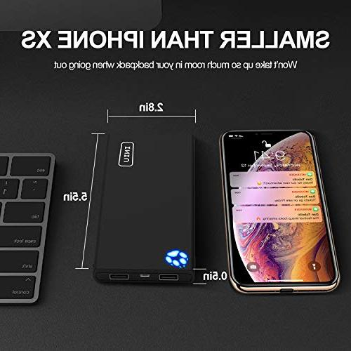 INIU Portable Power USB External Battery Backup Compact Slim with iPhone 7 5s 5 Samsung Phone