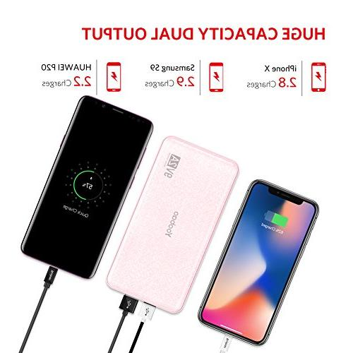Yoobao Portable Ultra Slim Q12 Qualcomm Quick 3.0 Fast Samsung Huawei Google LG and More-Pink