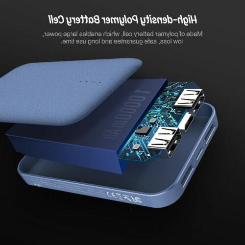ROCK Mini Power Bank 10000mAh Quick Charger Cell US