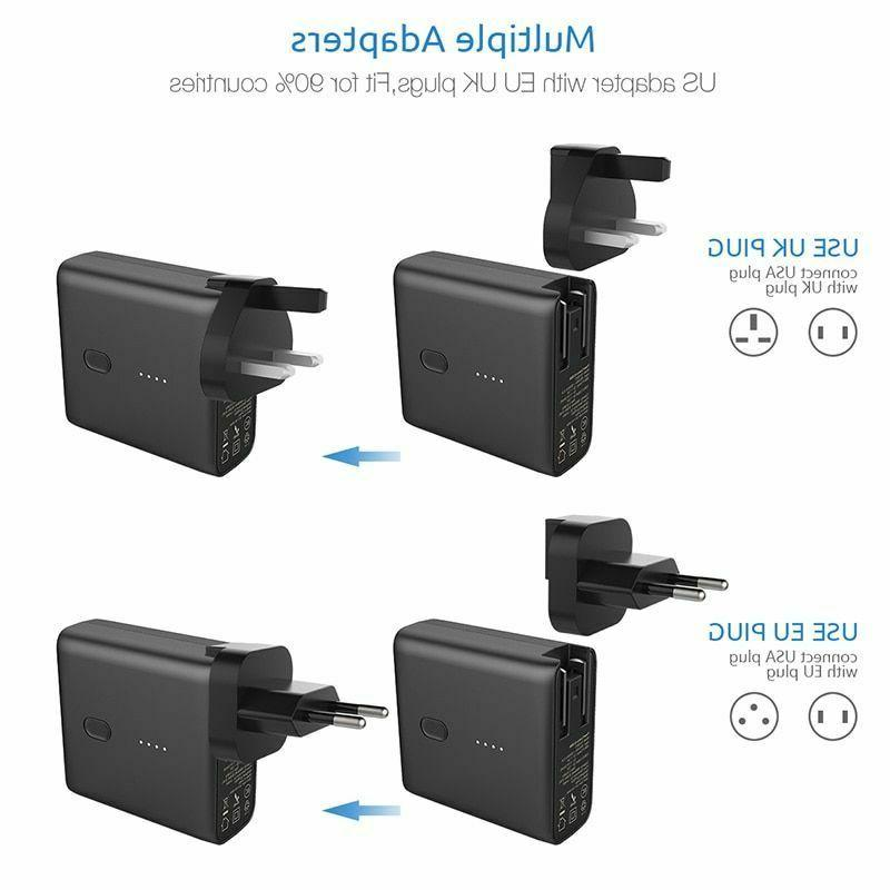 Portable Power Bank USB Wall Travel 2in1 Type-C