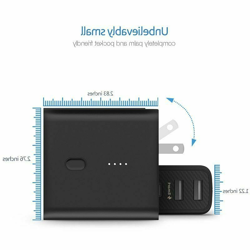 Portable Power USB Wall Charger Universal Travel 2in1 Type-C 2.1A
