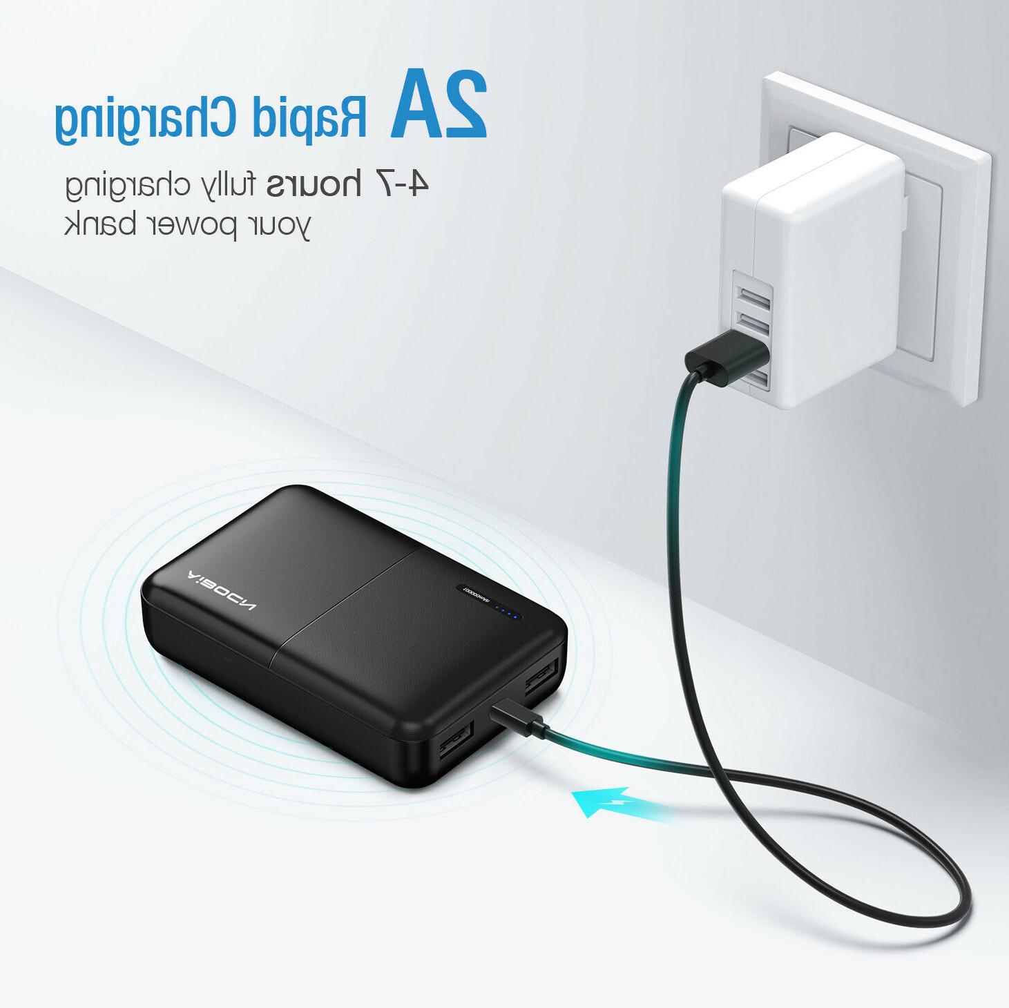 10000mAh Pocket Bank Dual USB Battery Charger For iPhone Android
