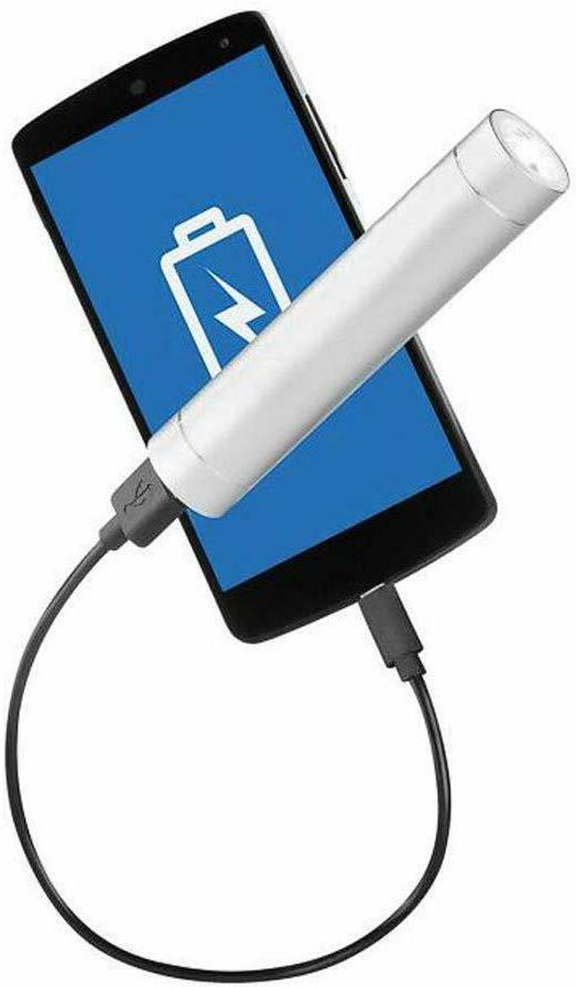 Portable Bank w/Built-in LED Flashlight Battery