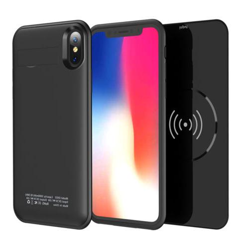 portable qi wireless external battery charger case
