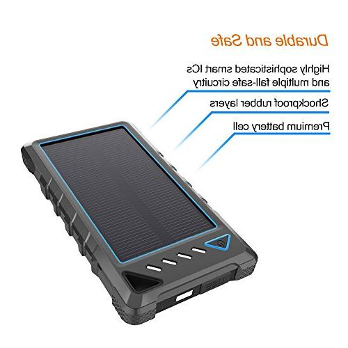Portable 10000mAh External with USB Ports, Flashlight for Camping, Activities