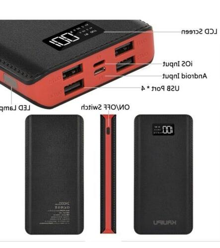 Power Bank 24000mAh Charger Battery Pack Output Ports B